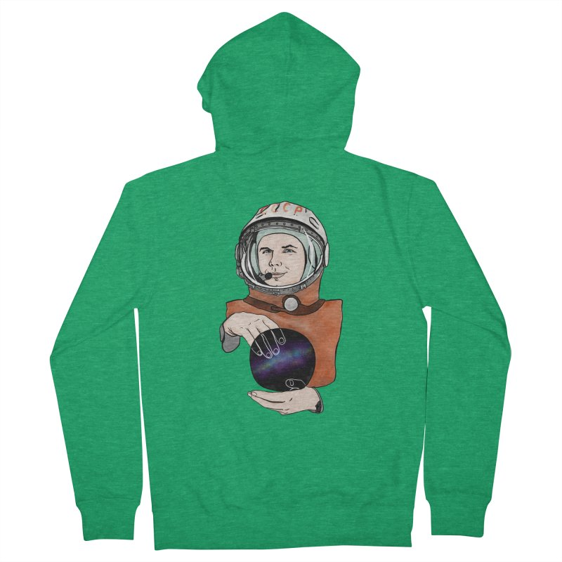 Yuri Gagarin. Space day. Men's Zip-Up Hoody by selendripity's Artist Shop