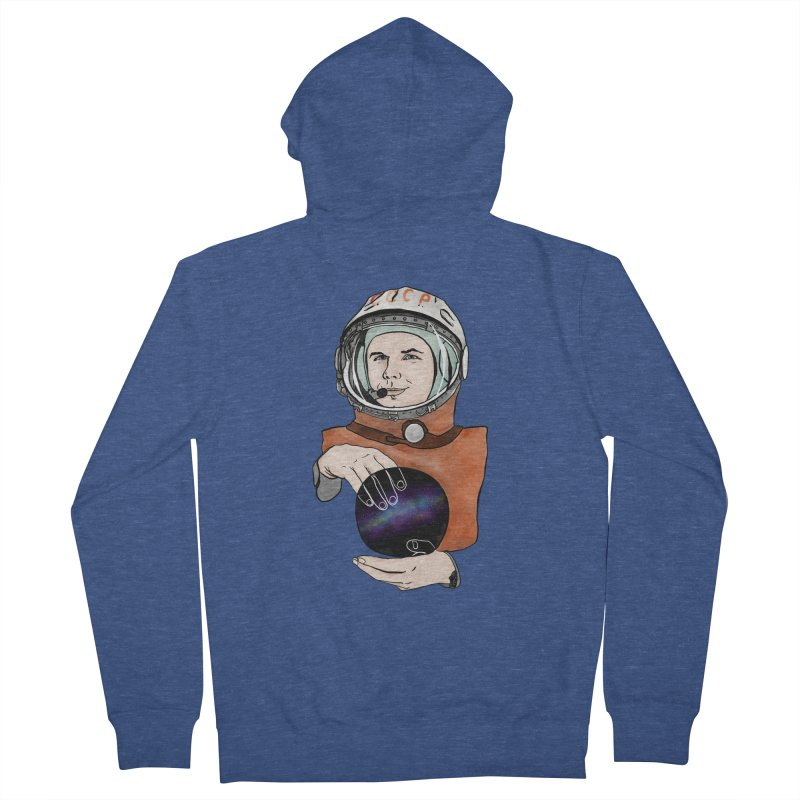 Yuri Gagarin. Space day. Men's Zip-Up Hoody by selendripity's Artist Shop