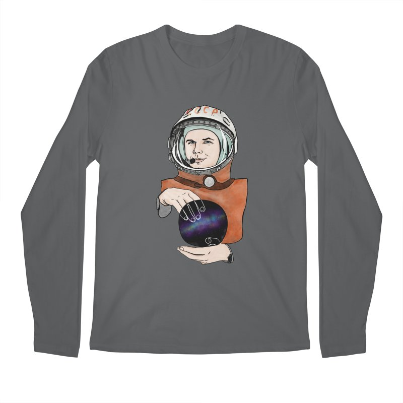 Yuri Gagarin. Space day. Men's Regular Longsleeve T-Shirt by selendripity's Artist Shop