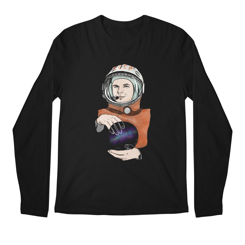 Yuri Gagarin. Space day. Men's Longsleeve T-Shirt by selendripity's Artist Shop