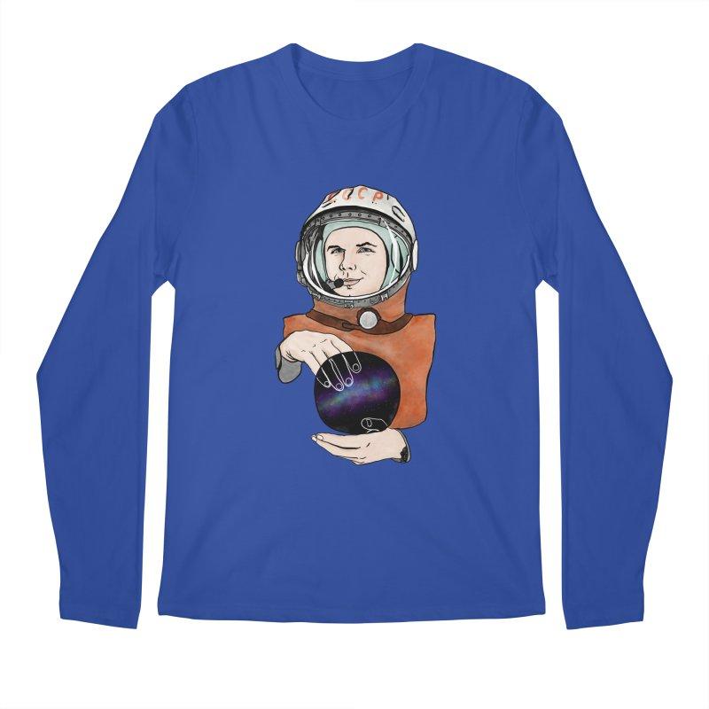 Yuri Gagarin. Space day. Men's Regular Longsleeve T-Shirt by selendripity's Artist Shop