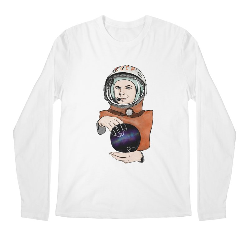 Yuri Gagarin. Space day. Men's Longsleeve T-Shirt by selendripity's Artist Shop