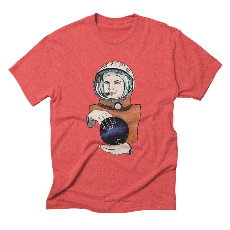 Yuri Gagarin. Space day. Men's Triblend T-Shirt by selendripity's Artist Shop
