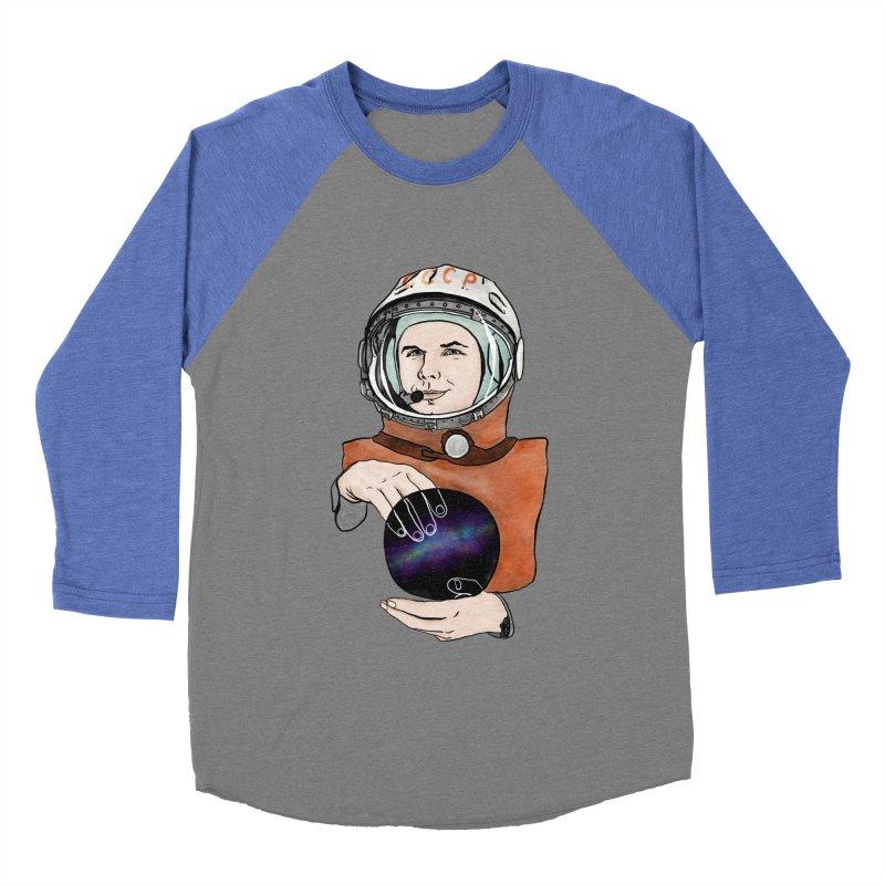 Yuri Gagarin. Space day. Men's Baseball Triblend Longsleeve T-Shirt by selendripity's Artist Shop