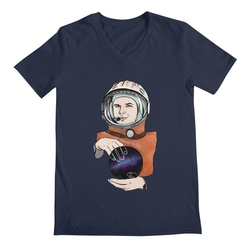 Yuri Gagarin. Space day. Men's V-Neck by selendripity's Artist Shop