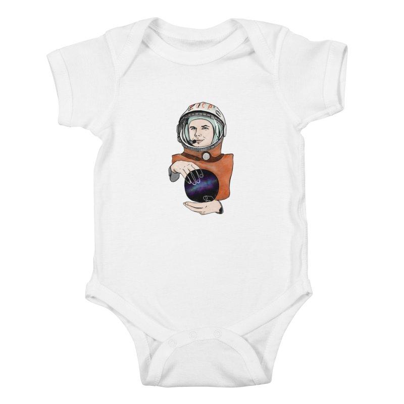 Yuri Gagarin. Space day. Kids Baby Bodysuit by selendripity's Artist Shop