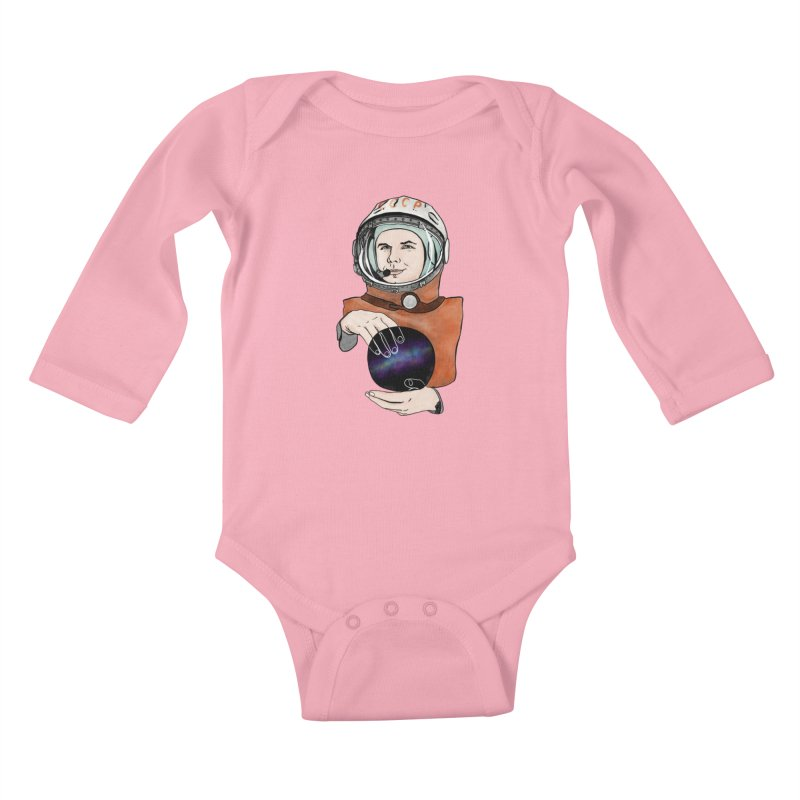 Yuri Gagarin. Space day. Kids Baby Longsleeve Bodysuit by selendripity's Artist Shop