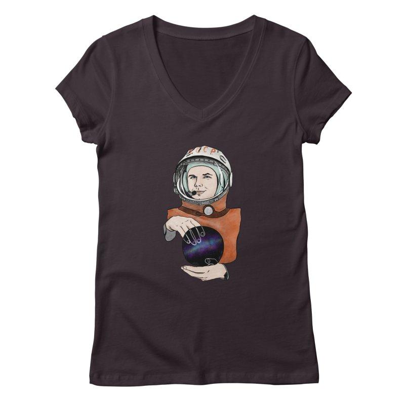 Yuri Gagarin. Space day. Women's V-Neck by selendripity's Artist Shop