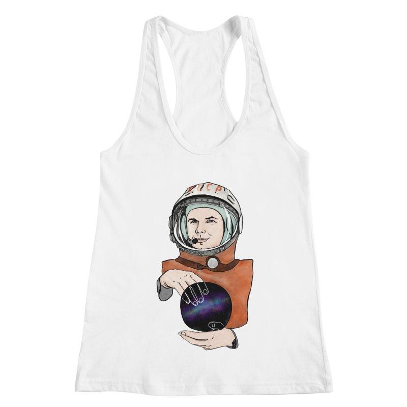 Yuri Gagarin. Space day. Women's Racerback Tank by selendripity's Artist Shop