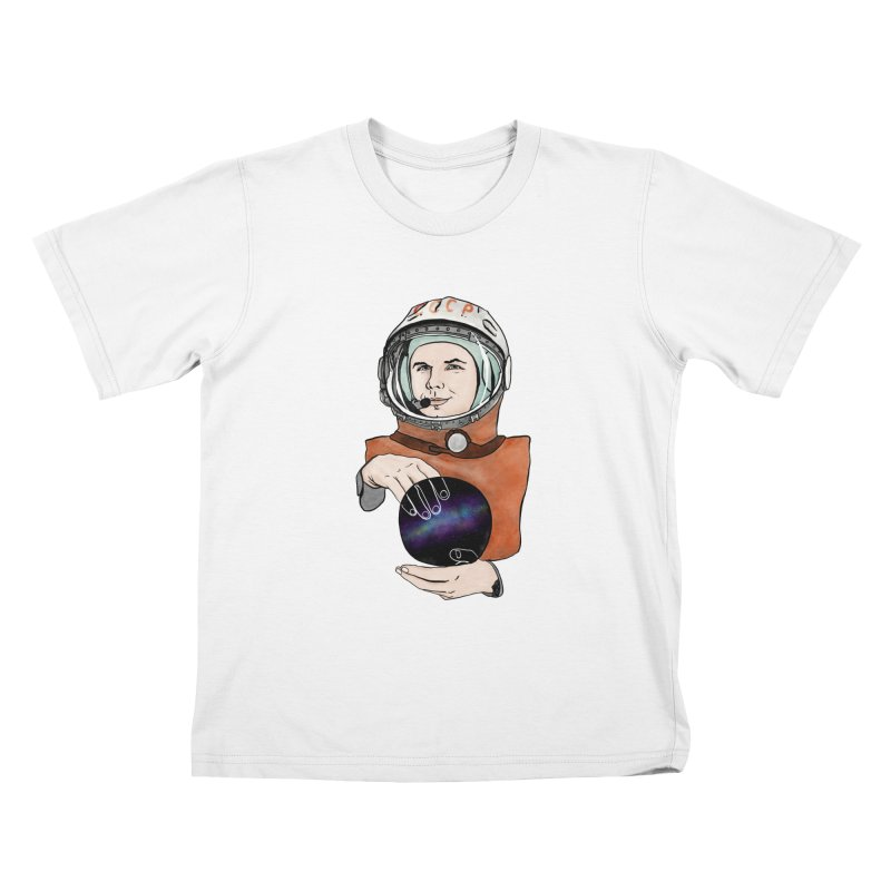 Yuri Gagarin. Space day. Kids T-Shirt by selendripity's Artist Shop