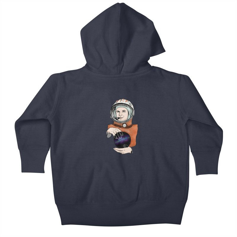 Yuri Gagarin. Space day. Kids Baby Zip-Up Hoody by selendripity's Artist Shop