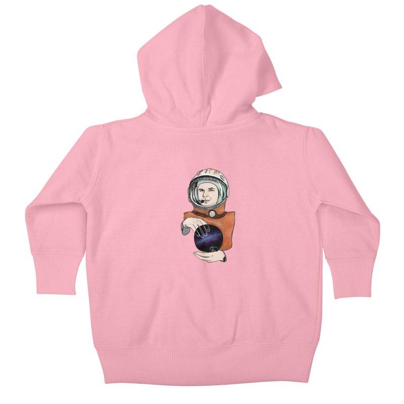 Yuri Gagarin. Space day. Kids Baby Zip-Up Hoody by selendripity's Artist Shop