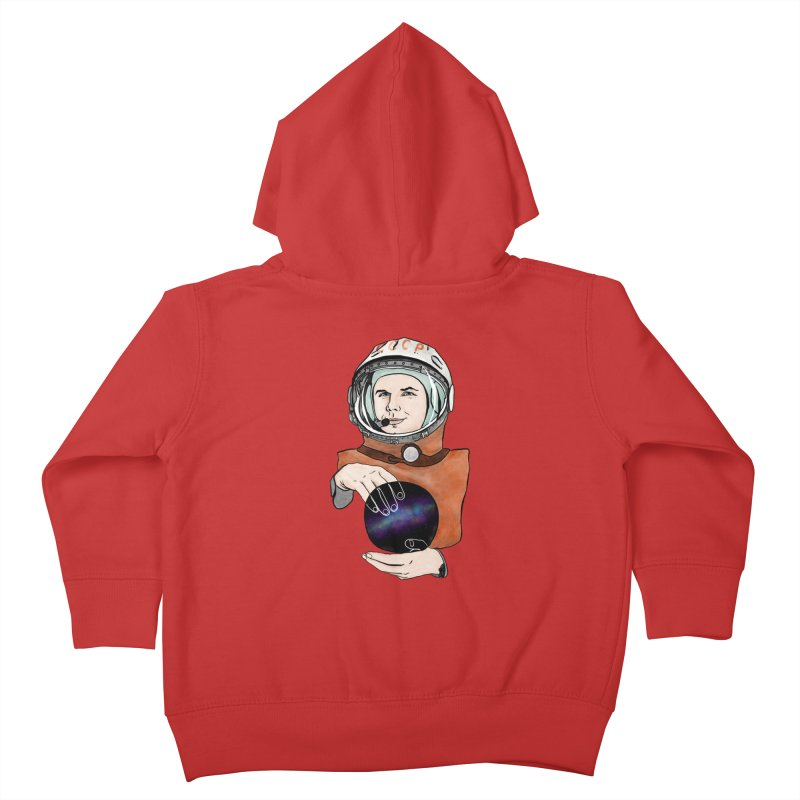 Yuri Gagarin. Space day. Kids Toddler Zip-Up Hoody by selendripity's Artist Shop