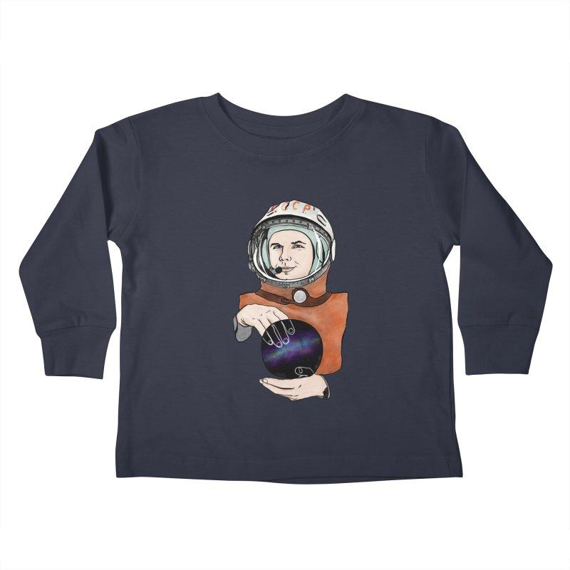 Yuri Gagarin. Space day. Kids Toddler Longsleeve T-Shirt by selendripity's Artist Shop