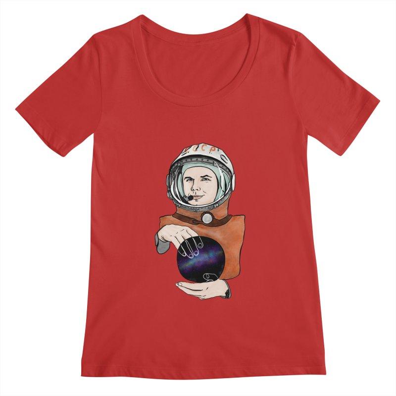Yuri Gagarin. Space day. Women's Regular Scoop Neck by selendripity's Artist Shop