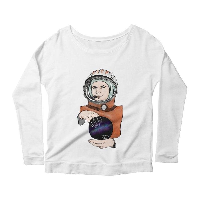 Yuri Gagarin. Space day. Women's Scoop Neck Longsleeve T-Shirt by selendripity's Artist Shop