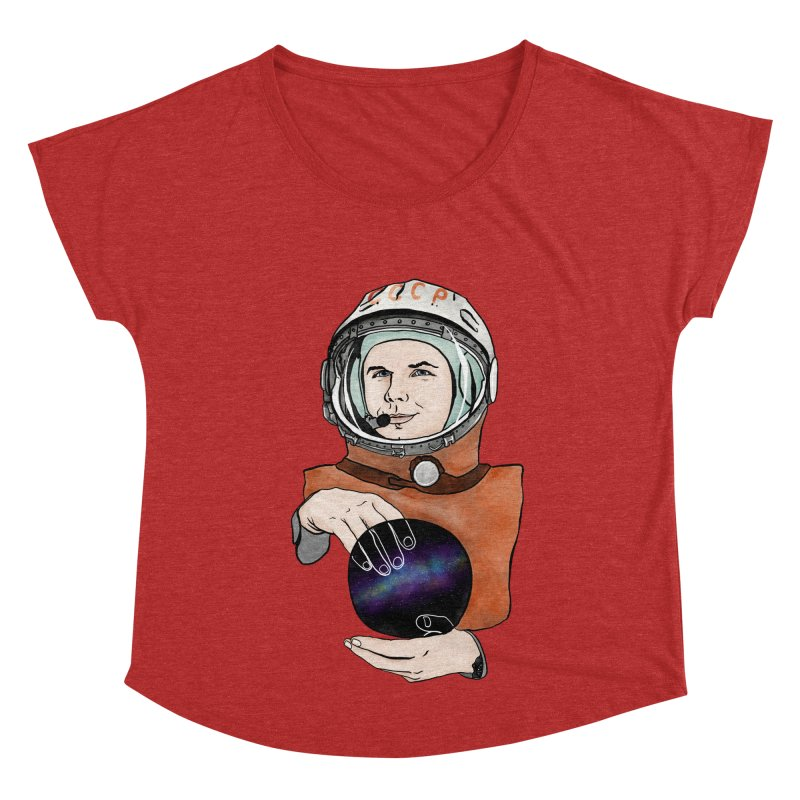 Yuri Gagarin. Space day. Women's Dolman Scoop Neck by selendripity's Artist Shop
