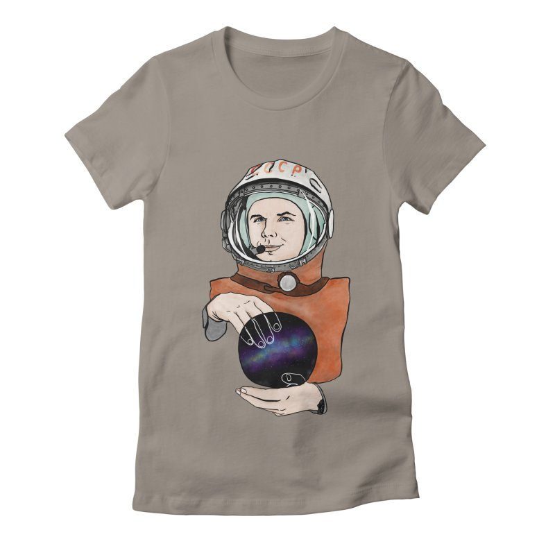 Yuri Gagarin. Space day. Women's Fitted T-Shirt by selendripity's Artist Shop
