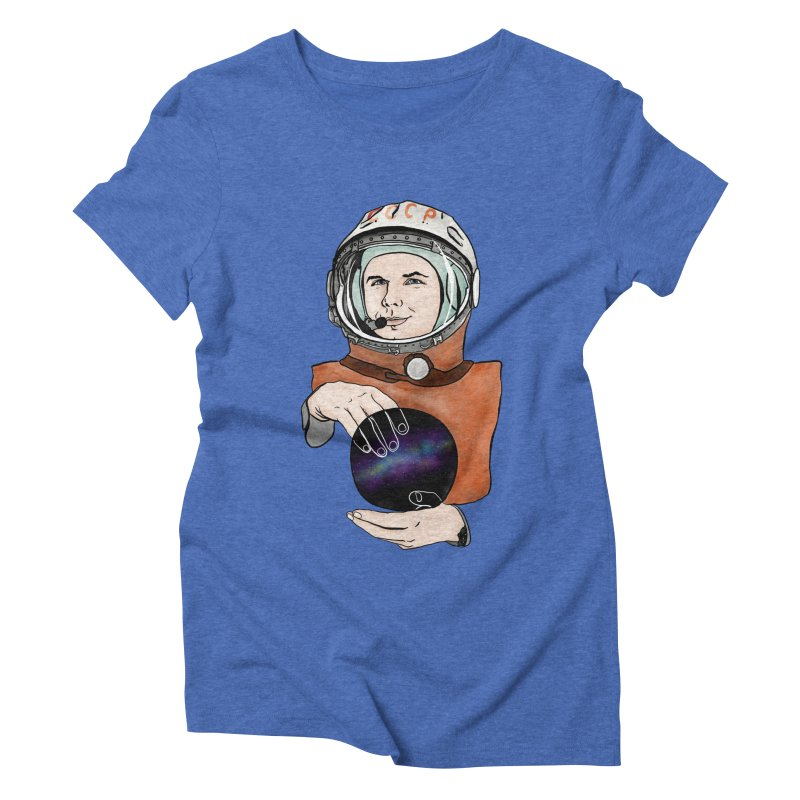 Yuri Gagarin. Space day. Women's Triblend T-Shirt by selendripity's Artist Shop