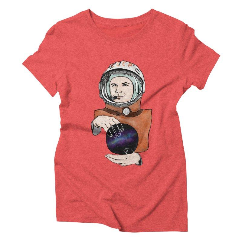 Yuri Gagarin. Space day. Women's Triblend T-Shirt by selendripity's Artist Shop
