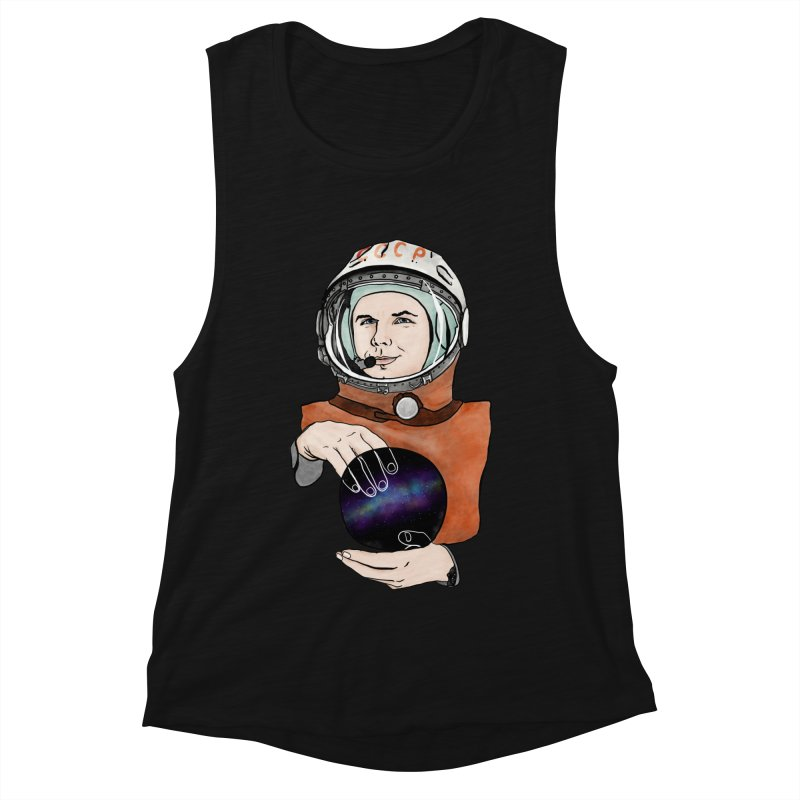 Yuri Gagarin. Space day. Women's Muscle Tank by selendripity's Artist Shop