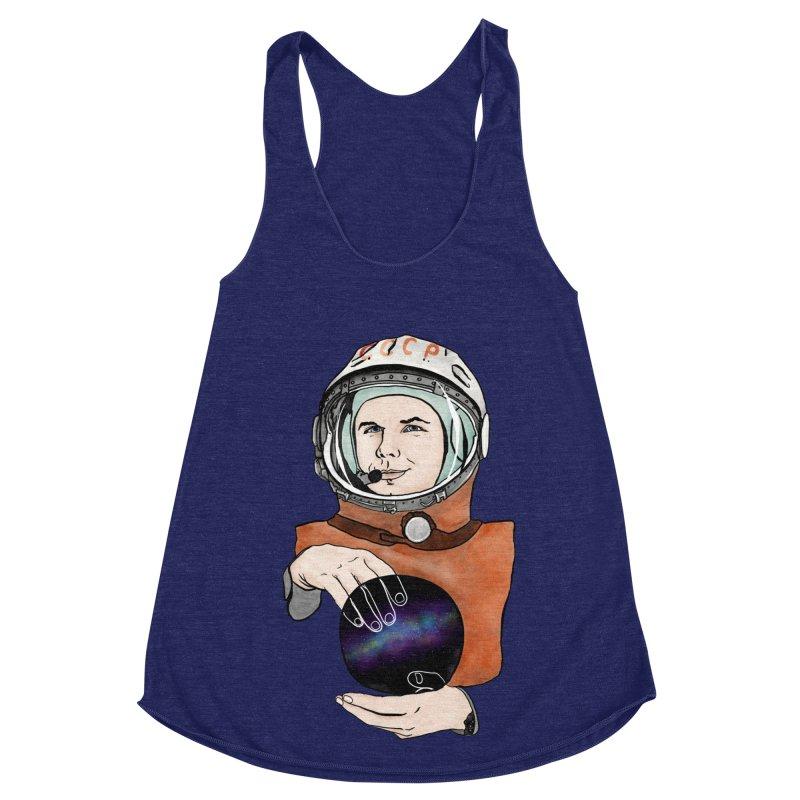 Yuri Gagarin. Space day. Women's Racerback Triblend Tank by selendripity's Artist Shop