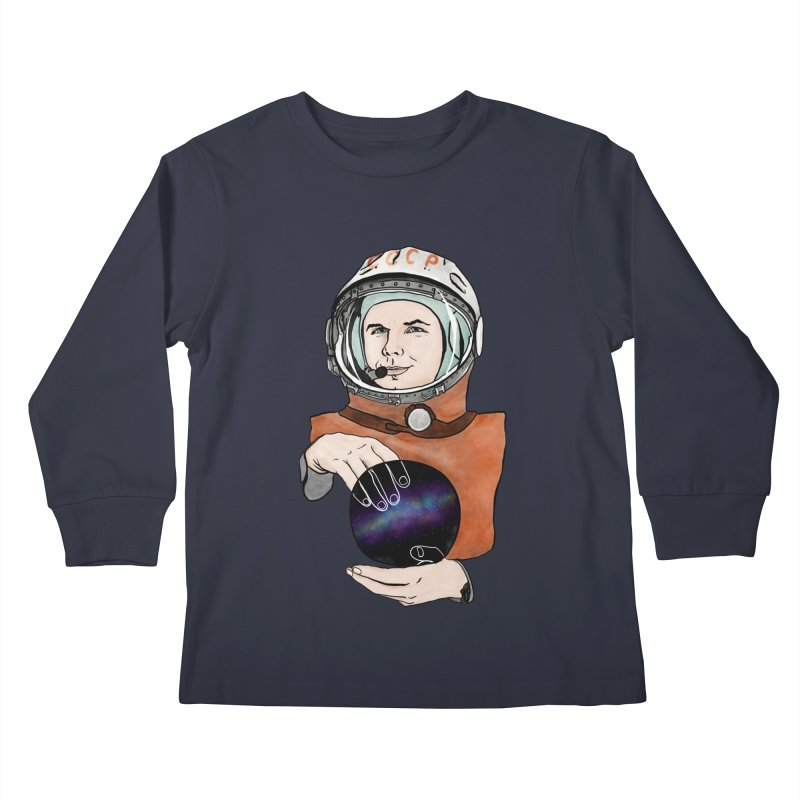 Yuri Gagarin. Space day. Kids Longsleeve T-Shirt by selendripity's Artist Shop