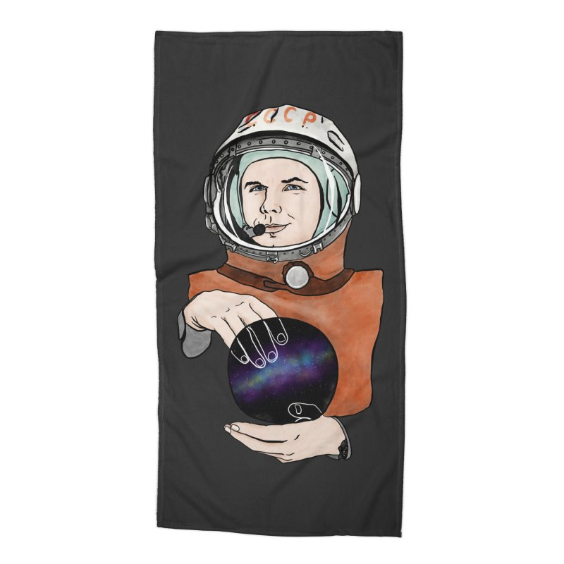 Yuri Gagarin. Space day. Accessories Beach Towel by selendripity's Artist Shop