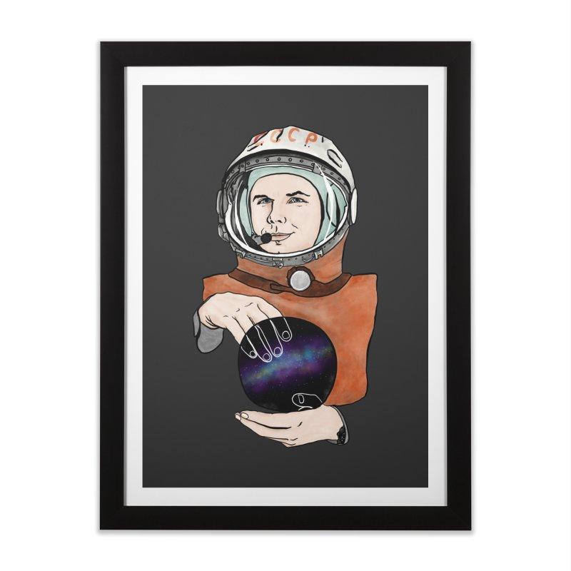 Yuri Gagarin. Space day. Home Framed Fine Art Print by selendripity's Artist Shop