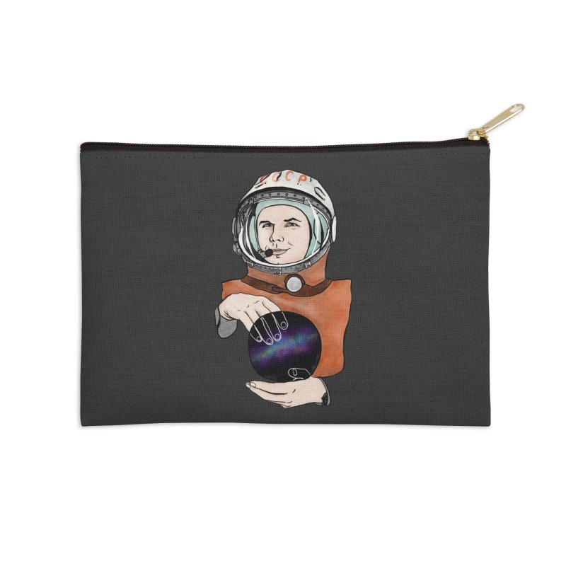 Yuri Gagarin. Space day. Accessories Zip Pouch by selendripity's Artist Shop