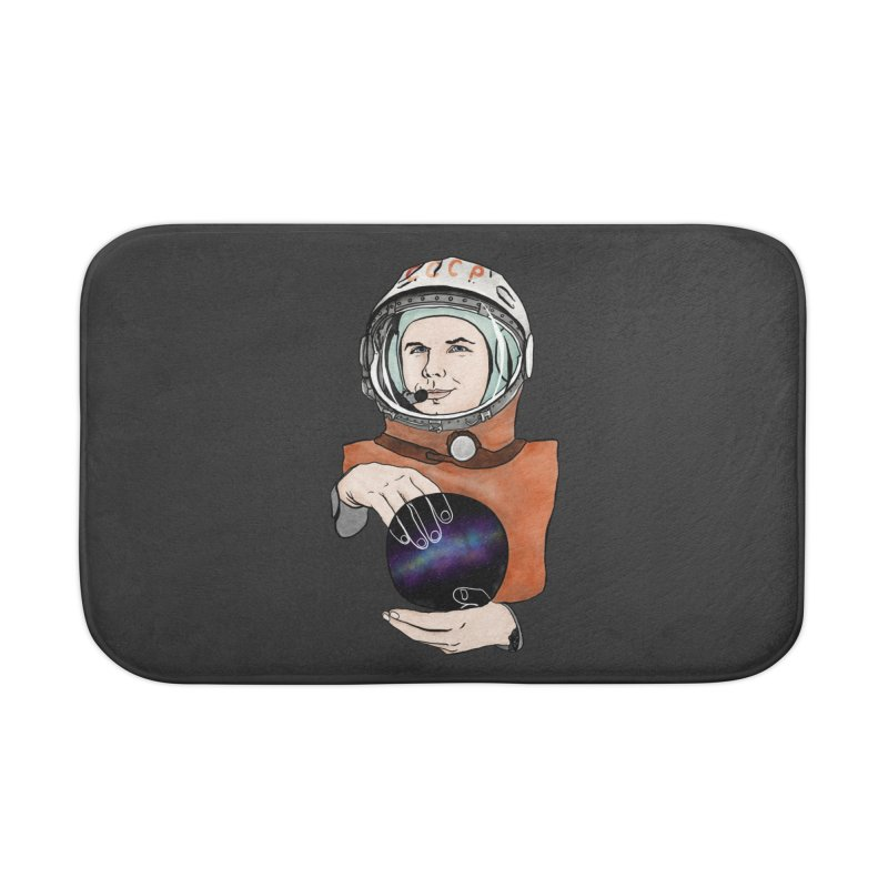 Yuri Gagarin. Space day. Home Bath Mat by selendripity's Artist Shop