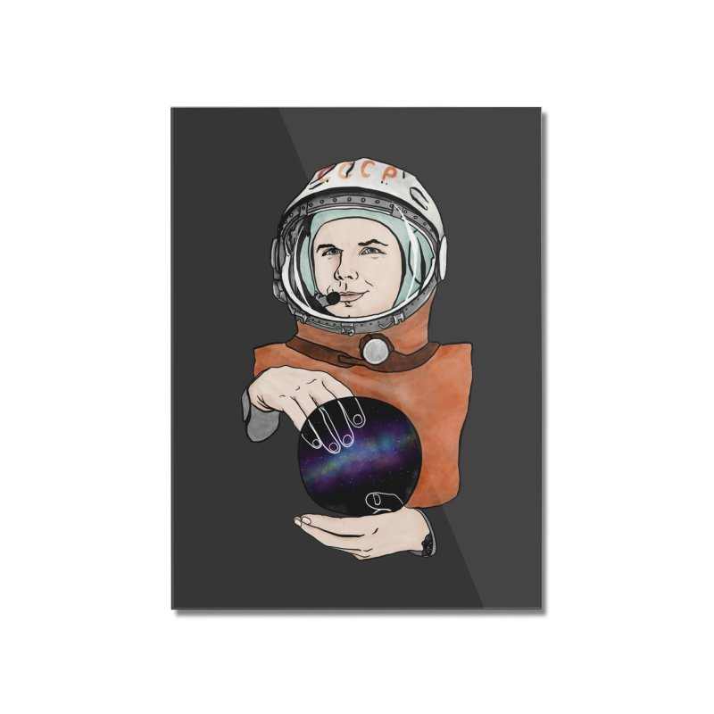 Yuri Gagarin. Space day. Home Mounted Acrylic Print by selendripity's Artist Shop