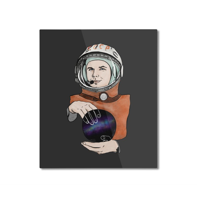 Yuri Gagarin. Space day. Home Mounted Aluminum Print by selendripity's Artist Shop