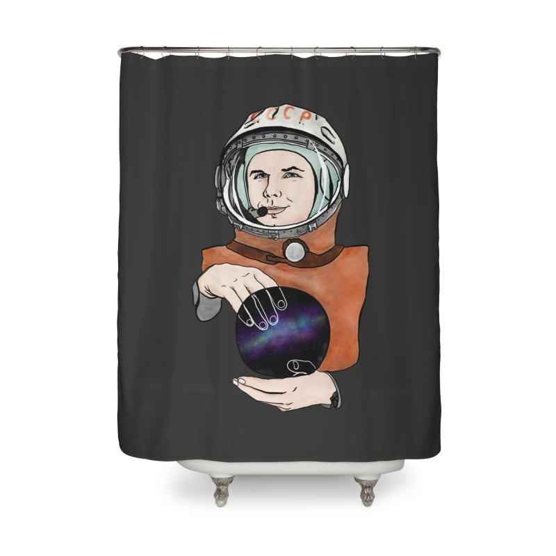 Yuri Gagarin. Space day. Home Shower Curtain by selendripity's Artist Shop
