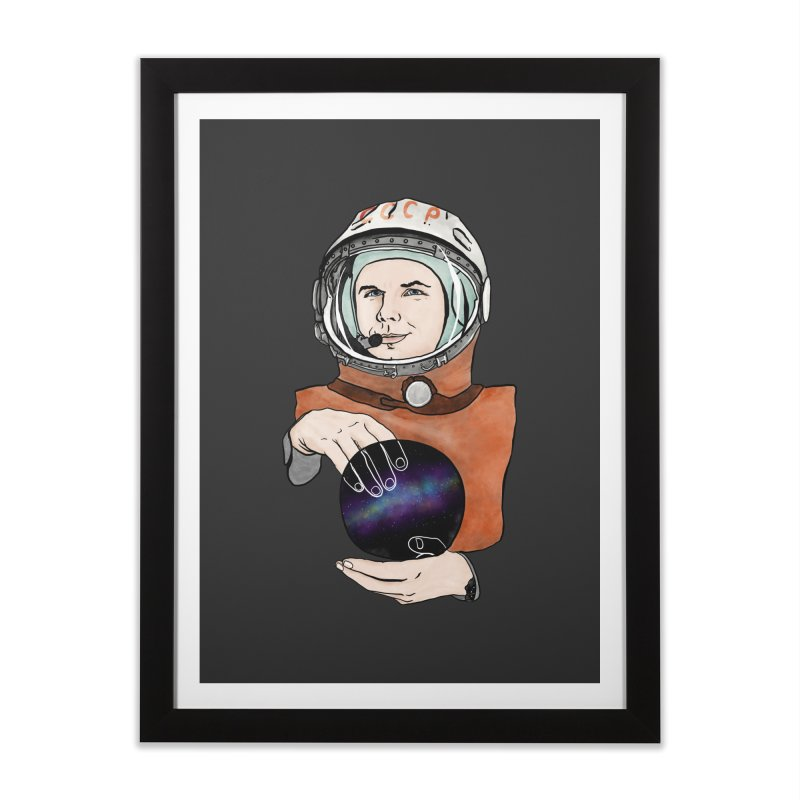 Yuri Gagarin. Space day. Home Framed Fine Art Print by selendripity's Artist Shop