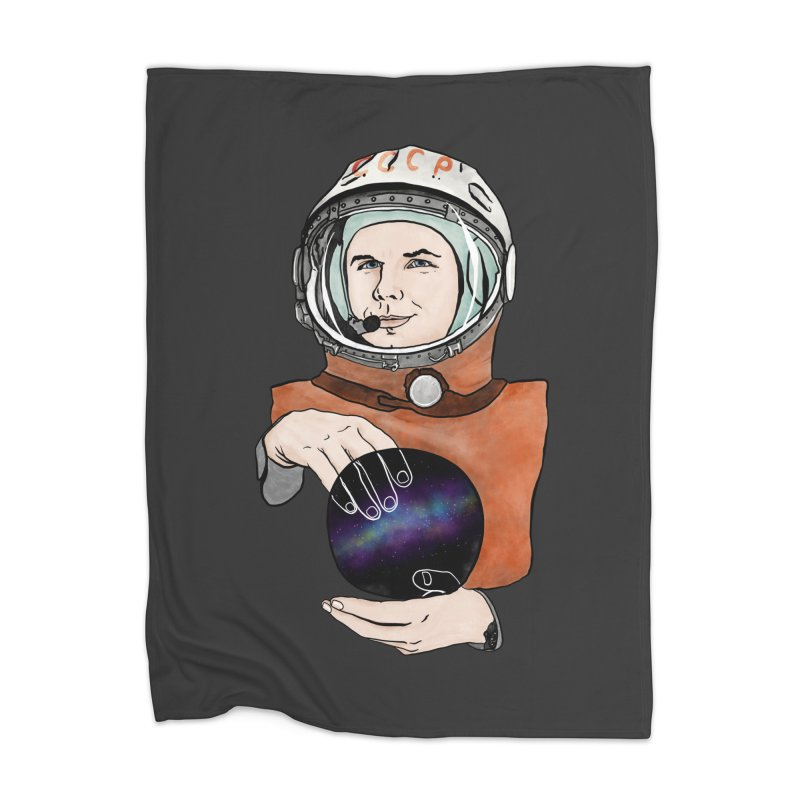 Yuri Gagarin. Space day. Home Blanket by selendripity's Artist Shop