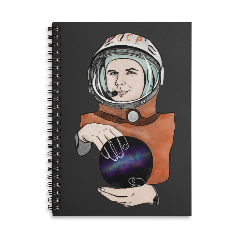 Yuri Gagarin. Space day. Accessories Lined Spiral Notebook by selendripity's Artist Shop
