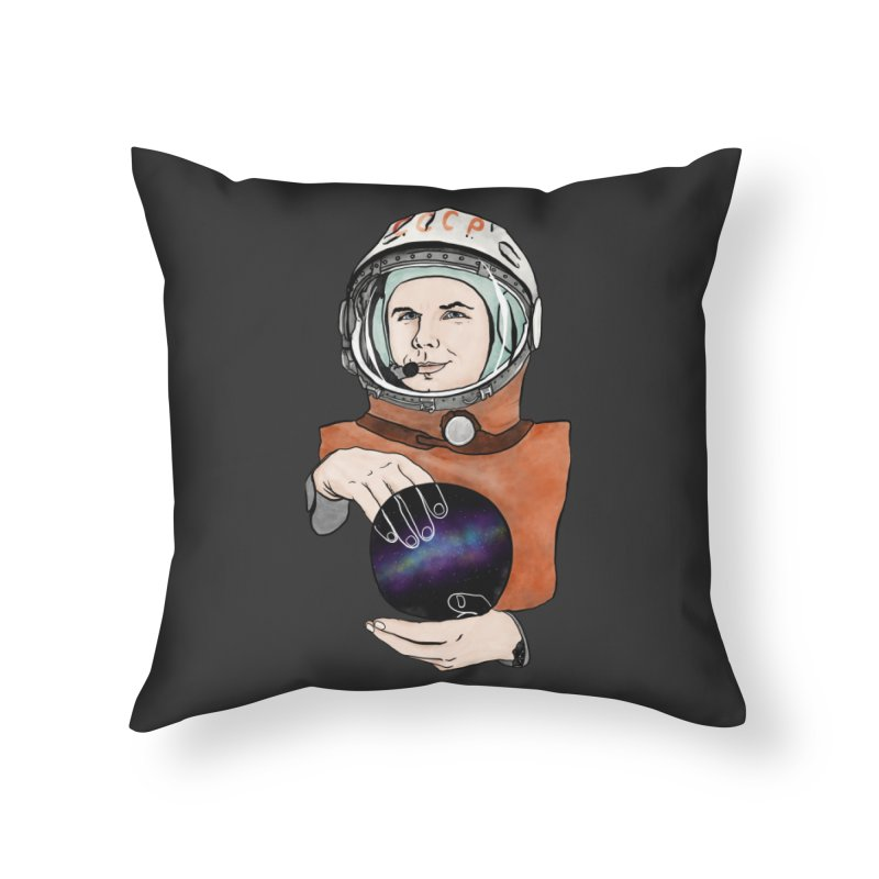 Yuri Gagarin. Space day. Home Throw Pillow by selendripity's Artist Shop