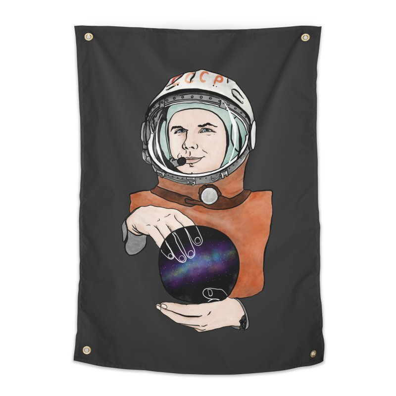 Yuri Gagarin. Space day. Home Tapestry by selendripity's Artist Shop