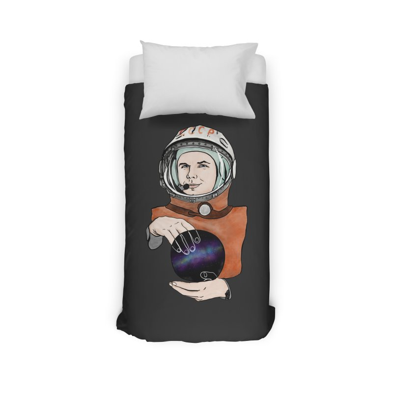 Yuri Gagarin. Space day. Home Duvet by selendripity's Artist Shop