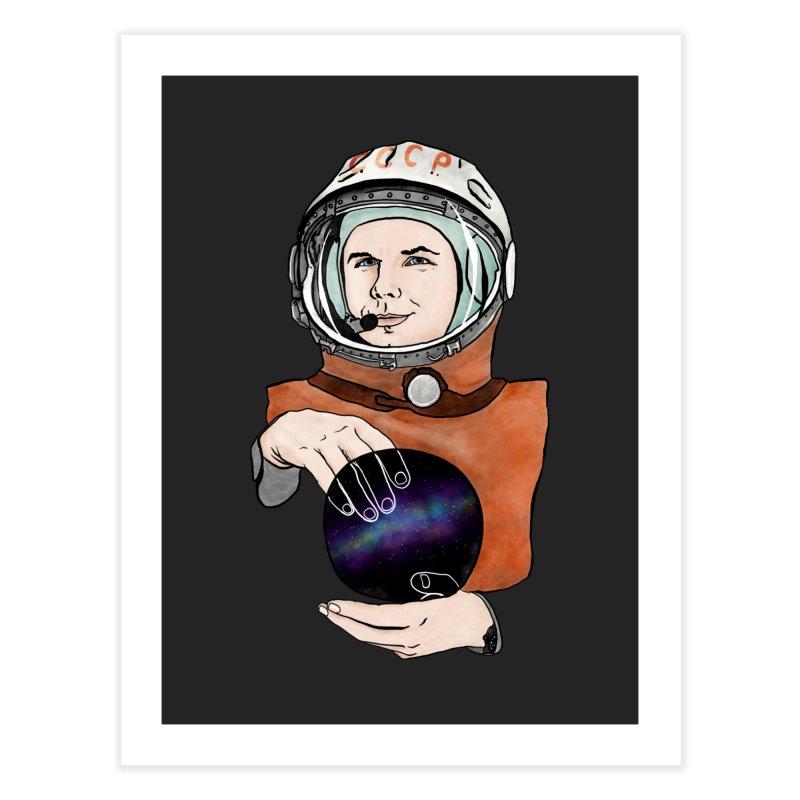 Yuri Gagarin. Space day. Home Fine Art Print by selendripity's Artist Shop