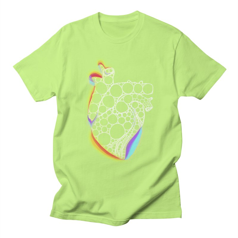 Fractal Heart with chromatic aberrations Men's T-Shirt by selendripity's Artist Shop