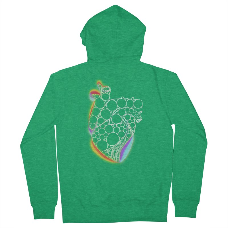 Fractal Heart with chromatic aberrations Women's Zip-Up Hoody by selendripity's Artist Shop