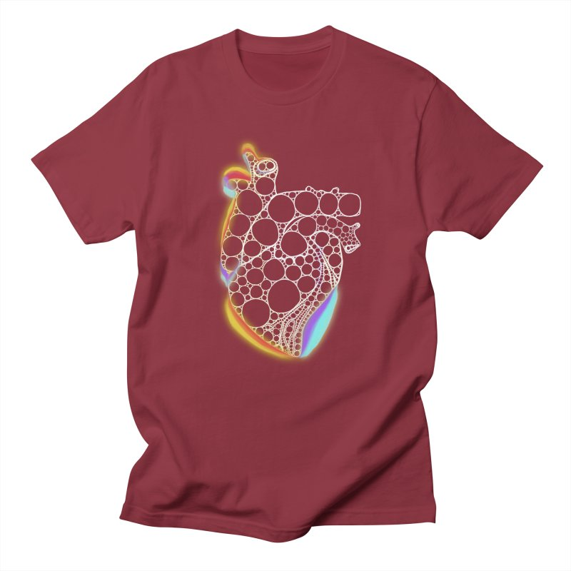 Fractal Heart with chromatic aberrations Men's T-Shirt by selendripity's Artist Shop