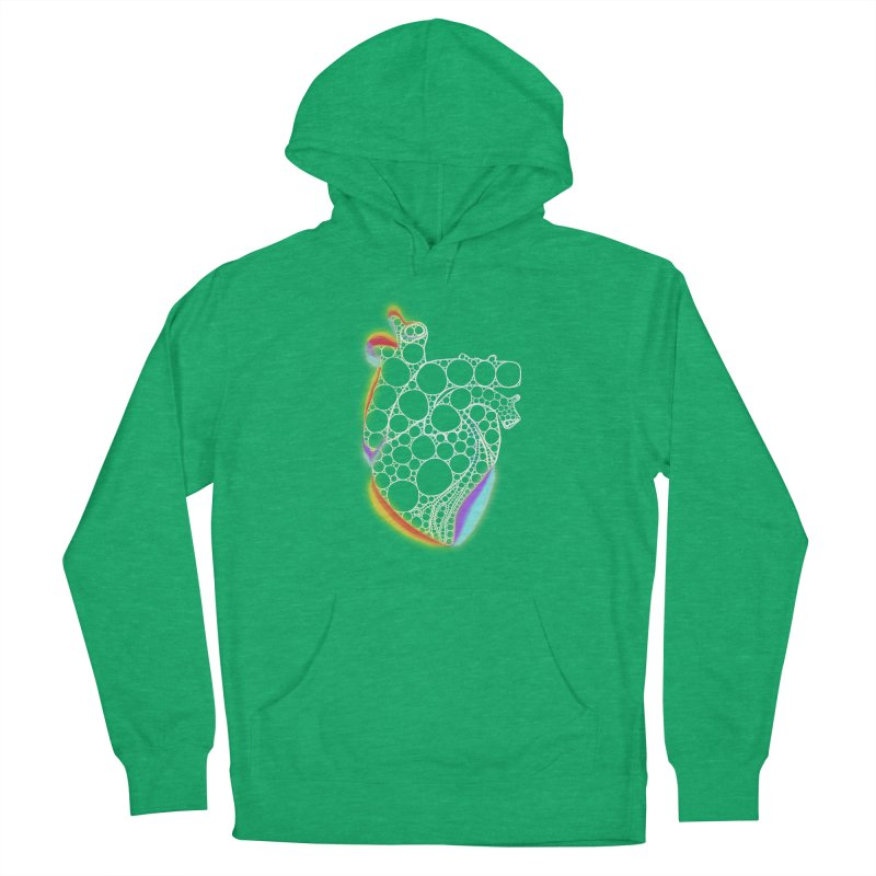 Fractal Heart with chromatic aberrations Women's French Terry Pullover Hoody by selendripity's Artist Shop