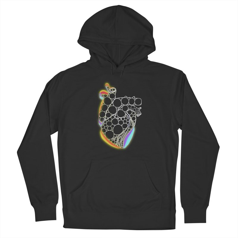 Fractal Heart with chromatic aberrations Men's Pullover Hoody by selendripity's Artist Shop