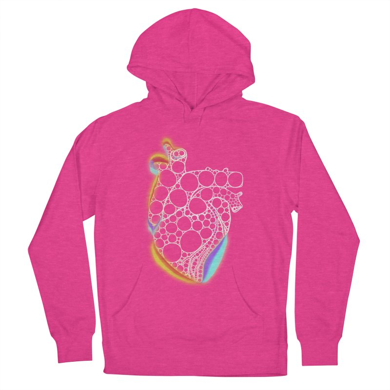 Fractal Heart with chromatic aberrations Men's French Terry Pullover Hoody by selendripity's Artist Shop