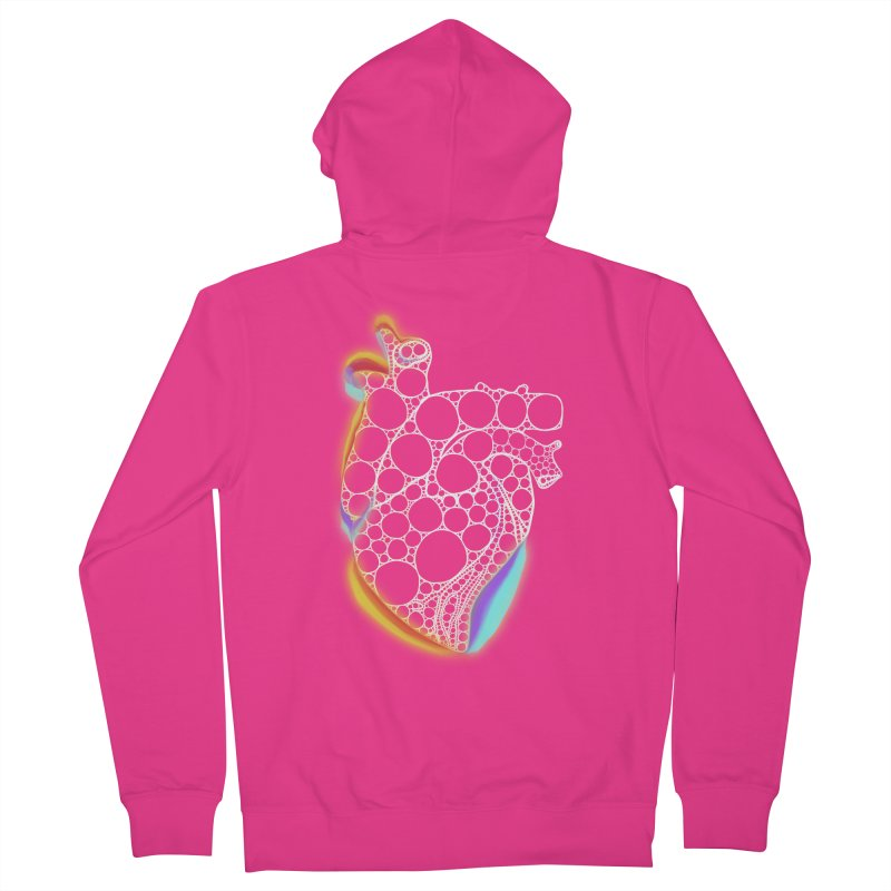 Fractal Heart with chromatic aberrations Men's Zip-Up Hoody by selendripity's Artist Shop