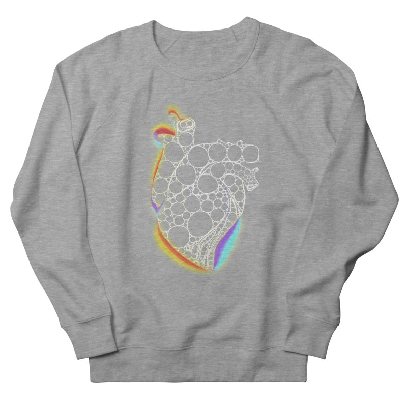 Fractal Heart with chromatic aberrations Women's French Terry Sweatshirt by selendripity's Artist Shop