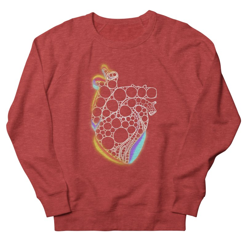 Fractal Heart with chromatic aberrations Women's Sweatshirt by selendripity's Artist Shop